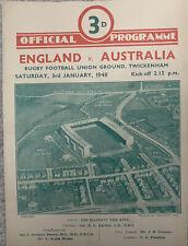 More details for england v australia @ twickenham 1947/48 rugby union
