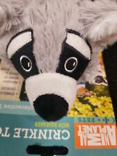 Animal Planet Crinkle Raccoon with Squeaker Puppy Dog Interactive Fun Toy