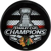 Chicago Blackhawks Unsigned 2015 Stanley Cup Champions Logo Hockey Puck