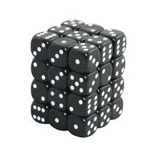 12MM d6 Opaque DICE set - Black (x36)