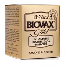 L`BIOTICA LBIOTICA BIOVAX GOLD INTENSIVE REGENERATING HAIR MASK ARGAN & GOLD 24K