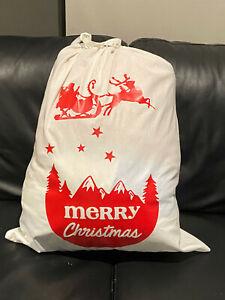 Personalised handmade Santa Sack Stocking Bag  Children Gifts Bag cotton fabric