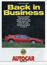 Lotus Esprit 1992 Double Sided Sales Brochure Reprint
