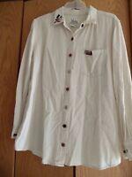 Christopher Banks Ivory Linen   Long sleeve Button up Top Shirt Blouse Sz 16W