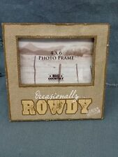 "Life Is Country ""Occasionally Rowdy"" Photo Frame Big Country by Big Sky Carvers"