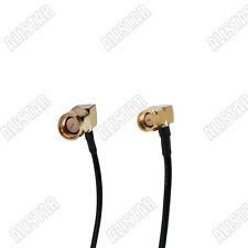 2x SMA male plug right angle to SMA male RA pigtail cable RG174 15cm
