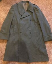 Vtg SWISS Medic Military Wool Trench Coat Long Medical Doctor Grey 46BB