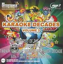 Mr entertainer karaoké 100 pistes MP3+G - années 60s, 70s, 80s, 90s, 00s vol 3 MKD3