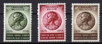A7624) BELGIUM 1956 Scott# B589/91  MNH** Q. Elisabeth 3v