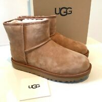 Women's Ugg Boots Size UK 5 6 Classic Mini Crystal Bow Suede Boxed