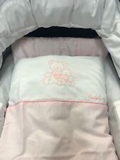 EMMALJUNGA pink Stripe cotton 5 Piece bedding set for pram bears & Hearts BNIB