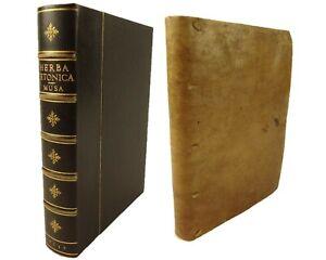 1537 De Herba Vetonica. Musa (Roman) and Apuleius edited by Gabriel Hummelberger