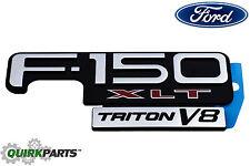 OEM NEW Right or Left Fender Emblem Nameplate F-150 XLT Triton V8 F85Z-16720-EA