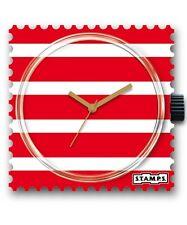 Quadrante orologio Stamps RED & WHITE watch 103275 orologi nuovo STRISCE ROSSO