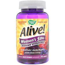 Nature's Way Alive Women's 50+ Gummy Vitamins - 75 Gummies Multi-Vitamin
