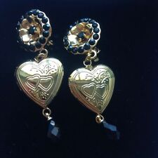 Dolce&Gabbana clip on crystal heart shaped earrings