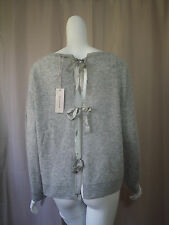 NWT New Rebecca Taylor Wool Gray Sweater Top women size L