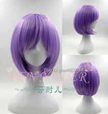 Romantic Purple Straight Cosplay Wig Synthetic Costume Party Full Hair Wigs