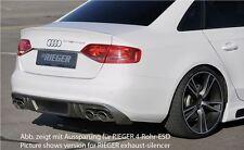 Rieger Heckeinsatz Carbon-Look orig. Doppelendrohr links/rechts für Audi S4 B8