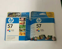 LOT of 2 Hewlett Packard HP Printer Tri Color Ink Cartridge 57 Expired 2009 2010