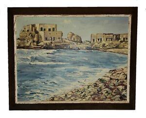 Vintage / Antique Seascape Oil Painting Signed