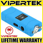 VIPERTEK Stun Gun Micro Mini BLUE VTS-881 390 BV Rechargeable LED Flashlight <br/> 390 Billion Stun Gun + LIFETIME WARRANTY + FREE Case