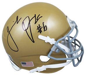 Notre Dame Jeremiah Owusu-Koramoah Signed Schutt Mini Helmet BAS Witnessed