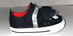 NEW Toddler Converse Chuck Taylor Ox Creatures  Black Dog Puppy Terrier Size 3 C