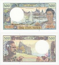 FRENCH PACIFIC TERRITORIES 500 FRANCS (1992) P.1g - UNC.