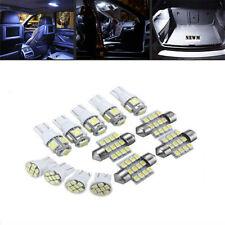 13Pcs LED Car Interior Light Bulb Map Dome Trunk License Plate Lamps Kit White