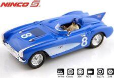 NINCO 50636 Corvette 56 SR-2BLUE  # 8   Neu / Ovp
