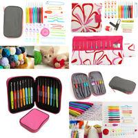 45PCS Crochet Hooks Set Knitting Needle Organiser Case Kit Weave Yarn Craft Tool