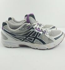 Women's Asics Gel Contend 4 Athletic Running Shoes White Purple Women's Size 9
