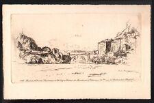 Pierre Louis Moreau. Paysage. De la série éditée par Maurice Le Garrec. 1921
