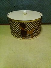 Vintage Poodle Wicker Sewing Basket with contents 50/ 60's