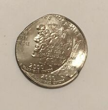2000-P New Hampshire state quarter, double struck - 2nd strike 30% off center