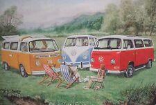 """Camper Vans  greeting card-"""" VW Campervans"""""""
