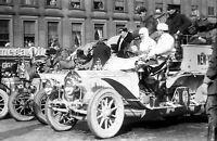 "1908 Start of New York to Paris Auto Race Vintage Photograph  11"" x 17"" Reprint"
