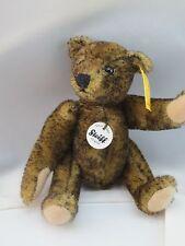 "Steiff  Mini Teddy Bear 12 cm  5"" tall  EAN 040969 Green Tipped Mohair"