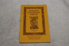 Vintage The Golden Cockerel Press Autumn List 1950