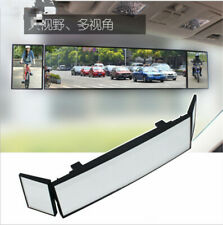 Car Tri-fold Curved Rear View Mirror Wide Angle Panoramic Anti-dazzling 380mm