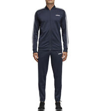 Tuta Uomo Adidas Essentials Back to Basics 3-Stripes Blu Codice DV2468 - 9M