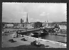 C1960s View of Cars & River Boats by Bridge Over River Seine, Rouen