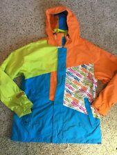 Men's Sessions Ski Snowboard Jacket SOS Outreach Size L Multi Color Kd1