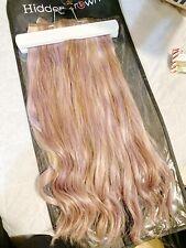 Hidden Crown Clip in Hair Extensions Light Ash Blonde 116   18 inch
