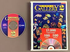 Corel Gallery 2 cd and book Windows 3.1 1995 clip art