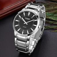 CURREN Men Business Watches Waterproof Stainless Steel Aviator Quartz Wristwatch