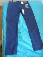 DICKIES Slim Skinny Stretch 36x34 Bleu  WORKWEAR
