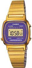 Casio Women's Digital Alarm Purple Gold Tone Vintage Watch LA670WGA-6 LA670WGA
