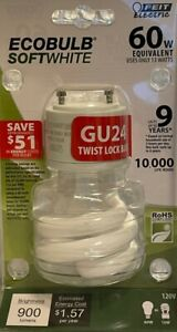 Feit Electric 60-Watt Soft White EcoBulb CFL with GU24 Twist Lock Base